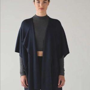 Lululemon After Asana Sweater/Wrap Inkwell One Siz